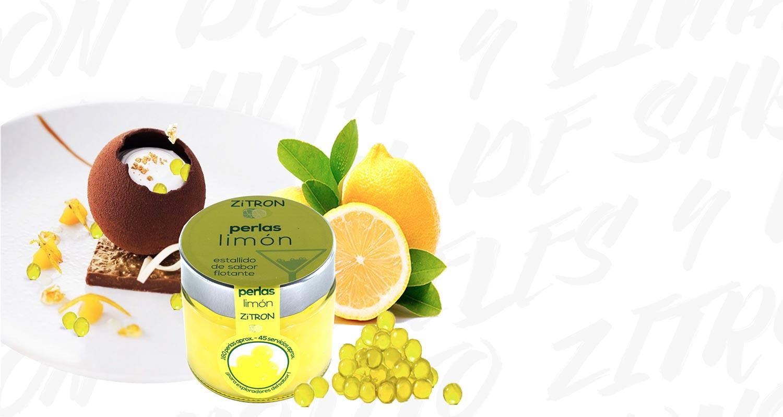 Bodegón de perlas Zitron de limón Zitromac