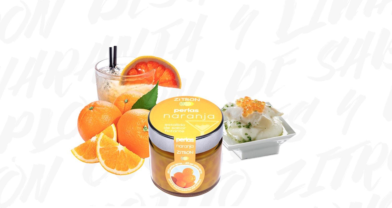 Bodegón de perlas Zitron de naranja Zitromac